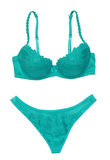 Green bra and panties Royalty Free Stock Photo