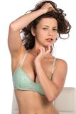Green bra Royalty Free Stock Photos