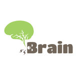 Green-brain. Include brain. green brain. Brain switching on Stock Photography