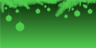 Green branches and ornaments Royalty Free Stock Photo