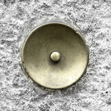 Green brass doorbell Stock Photo