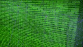 Green brick Background. The Gray lines flying, creating magical figures. stock video footage