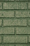 Green brick building. A green brick building with a fresh coat of paint Royalty Free Stock Photos