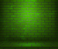 Green Brick Stage Background. Texture Royalty Free Stock Photos