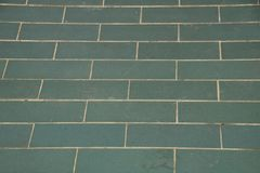 Green brick tile floor in the temple Royalty Free Stock Images