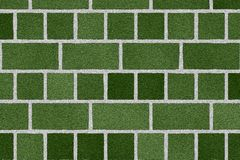 Green brick wall Royalty Free Stock Image