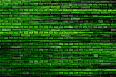 Green brick wall background Stock Image
