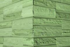 Green brick wall blocks. Abstract background Royalty Free Stock Photos