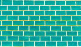 Green brick wall Royalty Free Stock Photography