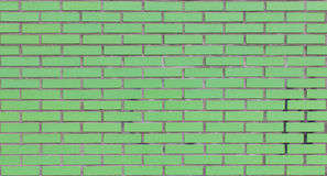 Green brick wall Stock Photo