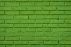 Green brick wall pattern and design Stock Photo