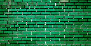 Green brick wall pattern texture Royalty Free Stock Photos