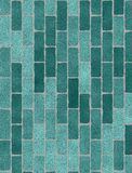 Green brick wall texture Stock Photo