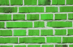 Green bricks. A brick wall made of green bricks Royalty Free Stock Image