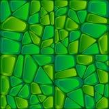 Green bricks abstract vector seamless pattern Royalty Free Stock Images