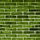 Green Bricks Background Stock Photo