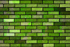 Green bricks wall background texture Stock Image