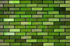 Green Bricks Wall Background Texture Stock Image