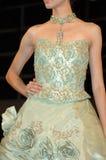Green Bride dress Stock Image