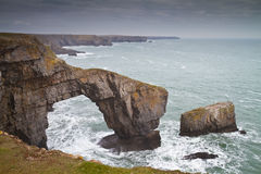 Green Bridge or Bridge of Wales sea arch Royalty Free Stock Photo