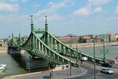 Green bridge in Budapest Stock Image