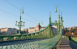The green bridge Stock Image