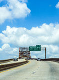 Green Bridge in new Orleans Royalty Free Stock Photo