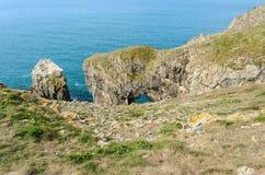 Green Bridge in the Pembrokeshire Coastal Path – Wales, United Kingdom Stock Photos