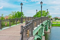 Green Bridge in Tsaritsino Park, Moscow Royalty Free Stock Photo
