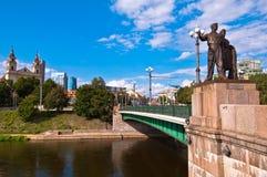 The Green Bridge in Vilnius Stock Photo