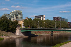 The Green Bridge in Vilnius Royalty Free Stock Photography