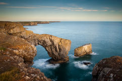 The Green Bridge of Wales stock image