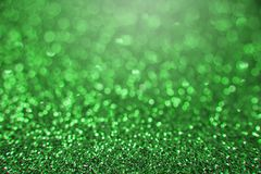 Green bright abstract bokeh background. stock image