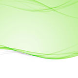 Green bright abstract modern swoosh wave border layout. Elegant Stock Images