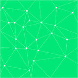 Green bright background with dotted triangles Royalty Free Stock Photo