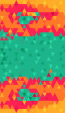 Green bright color triangles background Stock Photography