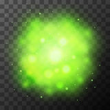 Green bright light, magic effect Royalty Free Stock Photography