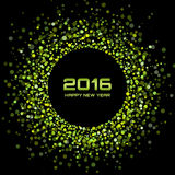 Green Bright New Year 2016 Background. Vector illustration Royalty Free Stock Photos