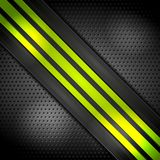 Green bright stripes on perforated background. Vector corporate design Royalty Free Stock Photography