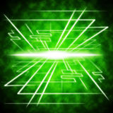 Green Brightness Background Shows Radiance And Lines Royalty Free Stock Photo