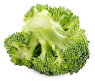 Green broccoli isolated on the white background Royalty Free Stock Photos