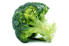 A green broccoli isolated on white background royalty free stock photos