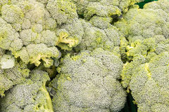 Green broccoli. Pieces of green broccoli on a market for sale Stock Photo