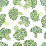 Green broccoli texture. Grungy seamless pattern. Stock Images