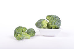 Green broccoli on a white background Royalty Free Stock Image