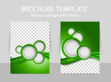 Green brochure Royalty Free Stock Image