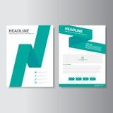 Green brochure flyer leaflet Abstract presentation template Infographic elements flat design set for marketing. Green Abstract brochure flyer leaflet stock illustration