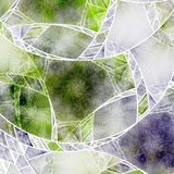 Green broken glass fractal pattern. Digital artwork for creative graphic design stock illustration
