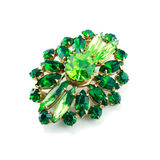 A green brooch isolated Royalty Free Stock Images
