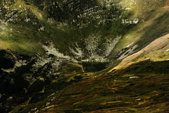 Green Brown and Black Abstract Painting Stock Photography